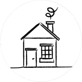 House sketch Free NHS Home Eye Test, Home visiting optician, Free eye test, free glasses, mobile optician, West Midlands, Birmingham, Solihull, Dorridge, Knowle, opticians near me, nearest optician to me,